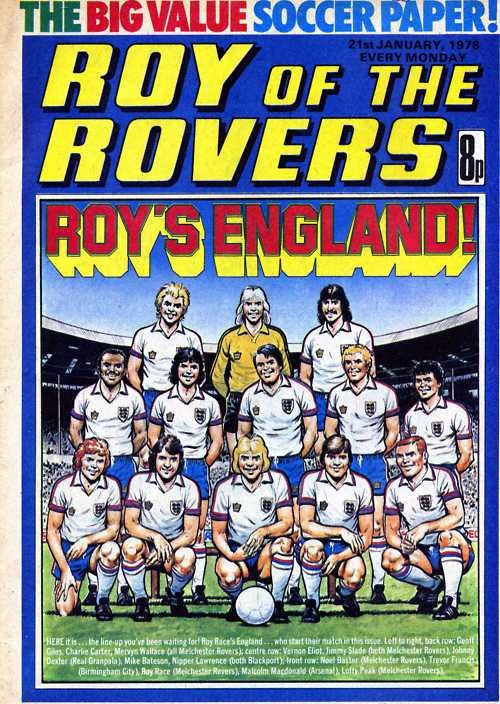 Yesterday Roy Hodgsons England got a 1-1 draw with Ukraine but back in 1978 Melchester Rovers Roy Race took charge as player-manager of England for one game against Holland ;)