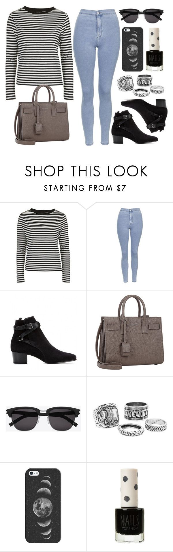 """Style #9389"" by vany-alvarado ❤ liked on Polyvore featuring Topshop, Yves Saint Laurent and Casetify"