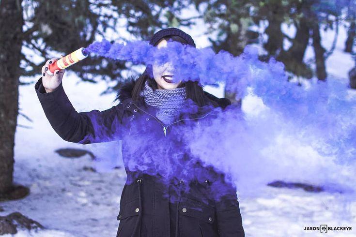 SMOKED!  Digital Prints in Bio  @eirini_zacharopoulou  #portrait #picoftheday #photooftheday #35mm #focus #portraitphotography #bokehful #bokehkillers #bokeh_bliss #bokeh #colorsmoke #smokebombphotography #smoked #blue #smokebomb #colored #snow #winter #model #modellife #woods #naturelovers #outdoors #adventure #jbphotovisuals #photography