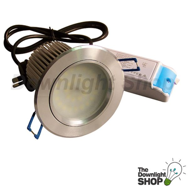 16W SHADOWLINE LED DOWNLIGHT KIT, 120° (BRUSHED ALUMINIUM) WARM WHITE LIGHT -   $52.40 SAVE: 34% OFF