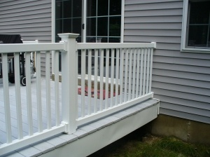 Siding and deck after Roof Cleaner soft washing