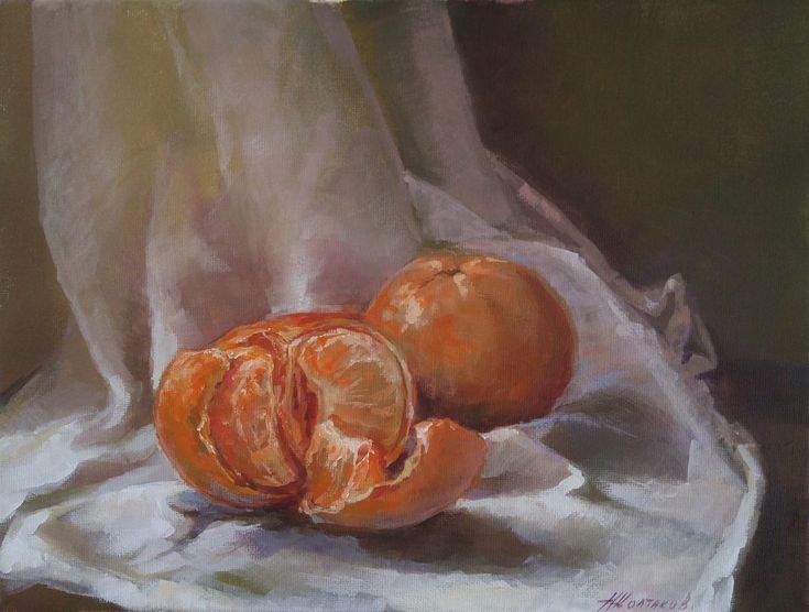 Buy Two mandarines (9x12x0.7''), Acrylic painting by Alexander Koltakov on Artfinder. Discover thousands of other original paintings, prints, sculptures and photography from independent artists.