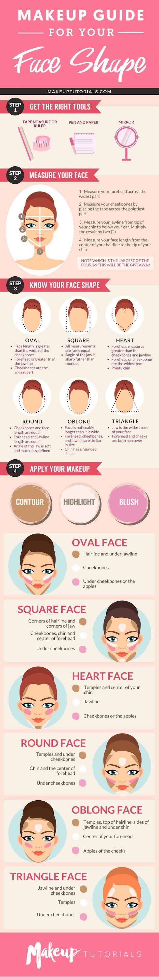 How To Determine Face Shape | Best Makeup Tutorials And Beauty Tips From The Web | Makeup Tutorials