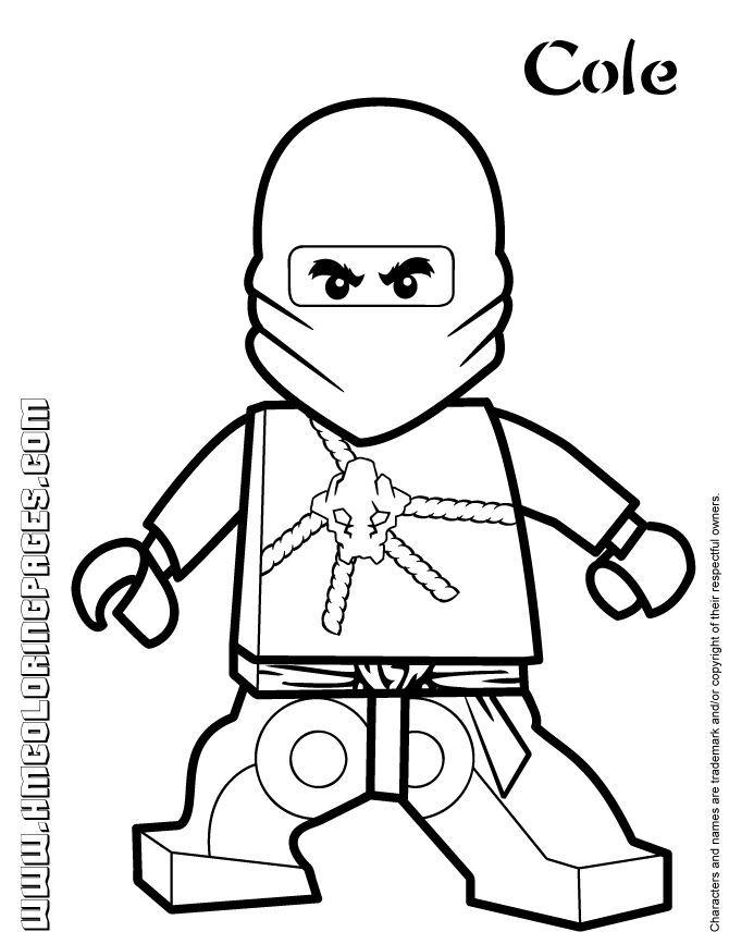 ausmalbilder ninjago cole zx