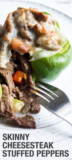 You have to try these delicious cheesesteak stuffed peppers!