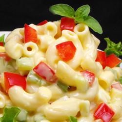 """Amish Macaroni Salad ~ Says: """" A flavorful macaroni salad made with hard cooked eggs, bell pepper and celery in a creamy dressing. Best macaroni salad I have ever had. I always get many requests for recipe!"""""""