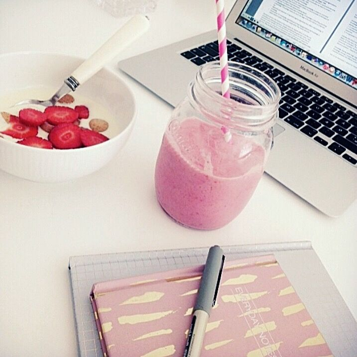 A day at the Prestiny Watches office. Pink and strawberries gives us a big smile on our faces :)