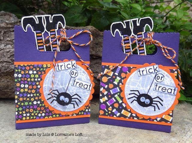 Lorraine's Loft: Lawn Fawn And Simon's Not So Spooky Halloween Treat Bags