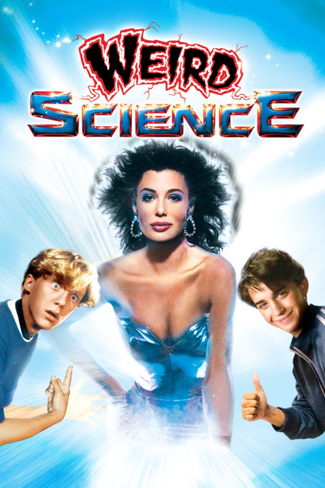 Weird Science Movie Poster - Anthony Michael Hall, Ilan Mitchell-Smith, Kelly LeBrock  #WeirdScience, #MoviePoster, #Comedy, #JohnHughes, #AnthonyMichaelHall, #IlanMitchell, #Smith, #KellyLeBrock