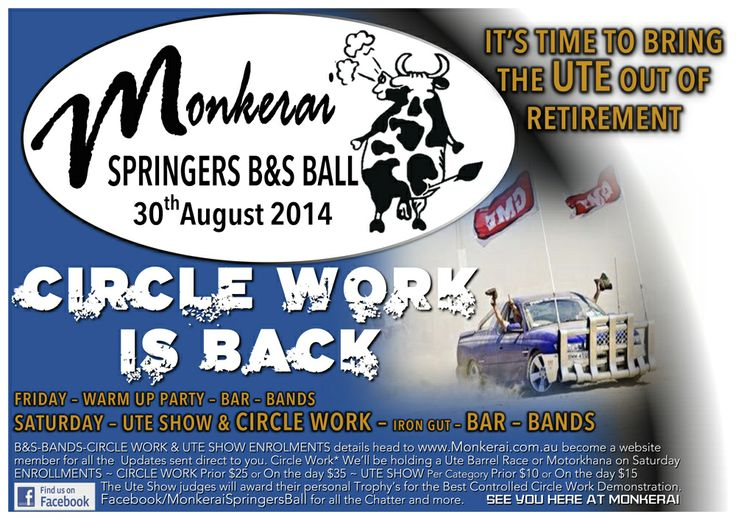 2014 MONKERAI SPRINGERS BALL. CIRCLE WORK* IS BACK...