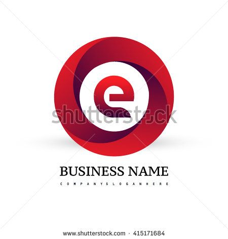 E letter logo in the red circle. Vector design template elements for your application or company identity. - stock vector
