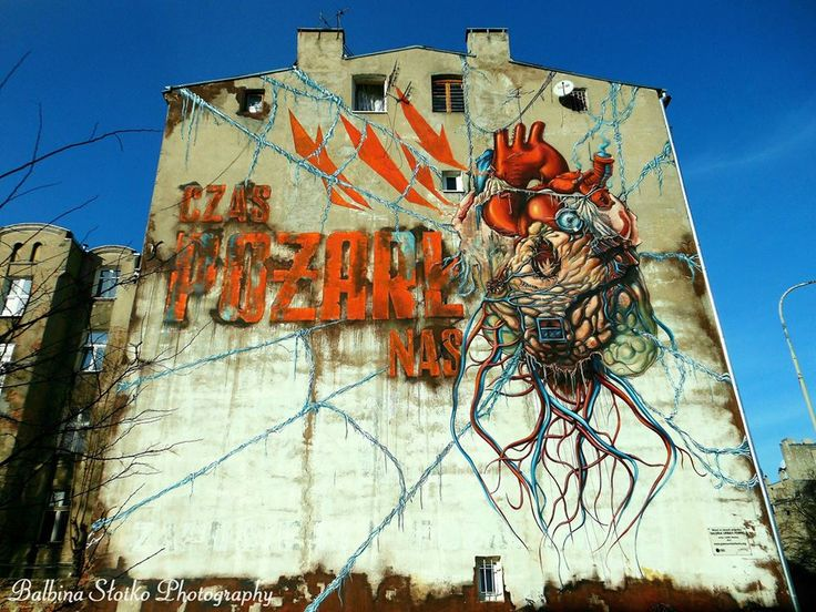 Mural POŻAR - ŁÓDŹ