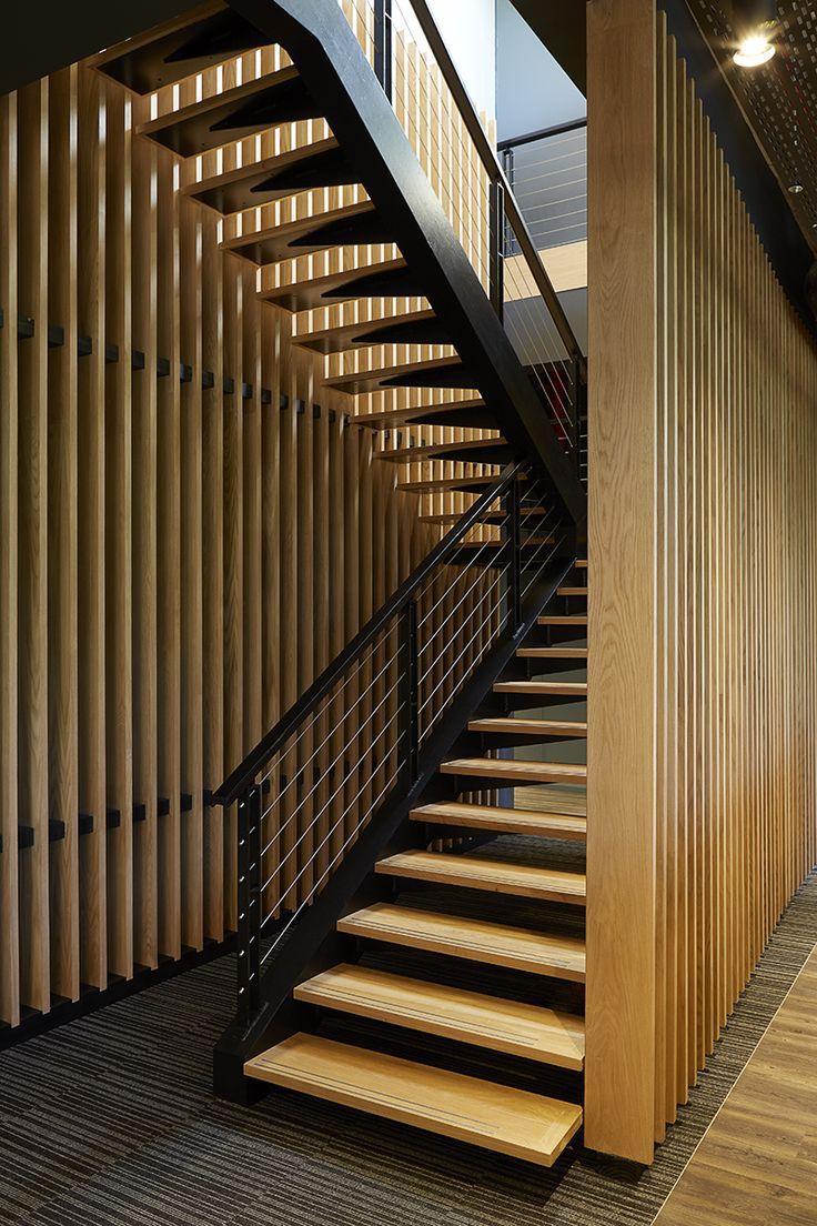 Redefine Office Stairs. Interior design by Source Interior Brand Architecture.