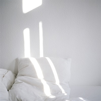 I love a good stripe of light in the afternoon while reading in bed eating fruit.