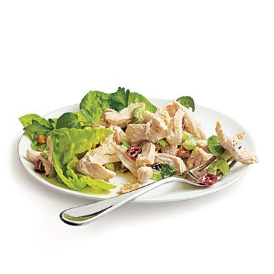 (Healthier) Creamy Chicken SaladChicken Recipe, Food, Cooking Lights, Eating, Healthy Chicken Salads, Greek Yogurt, Chicken Breast, Chicken Salad Recipes, Creamy Chicken