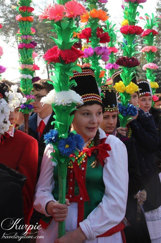 Kurpiowska Niedziela Palmowa W Lysych Polskie Tradycje Wielkanocne Polish Traditions Handmade Palm Sunday
