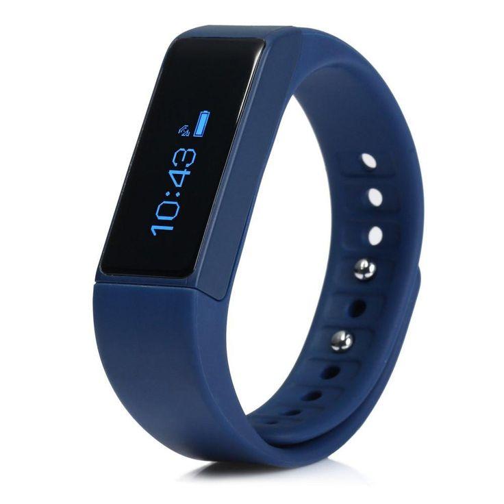 BlueWaterproof Touch Screen I5 Plus Smart Bracelet IP67 Bluetooth 4.0 Watch Wristband Sleep Monitoring Sports Tracking Remote Camera