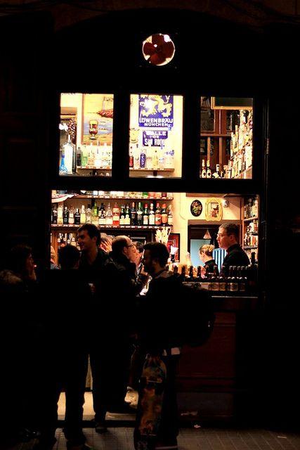 An evening at Quimet Quimet On Carrer Poeta Cabanyes in Poble Sec.  Tapas tapas tapas.....  Barcelona  Catalonia