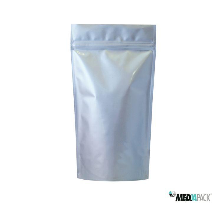 Embalagem de plástico com fecho hermético. Totalmente personalizável e disponível em diferentes cores.