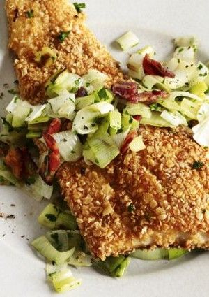 Oatmeal-Crusted Trout Recipe