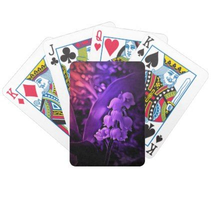 #Lily of the valley purple dream bicycle playing cards - #flower gifts floral flowers diy