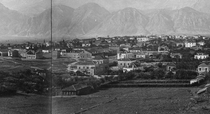 Sparti with Taygetos mountain