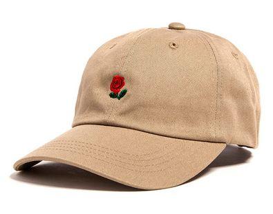 Khaki Rose Dad Hat