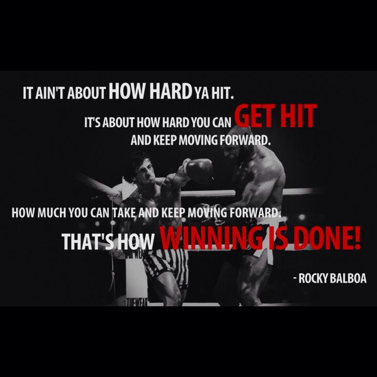 Rocky Balboa Life Is Hard Quote: 108 Best Images About Favorite Quotes On Pinterest