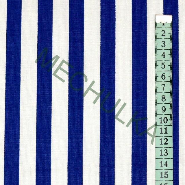 Modré pruhy / námořnický proužek - látka - pruhovaná metráž - bavlna