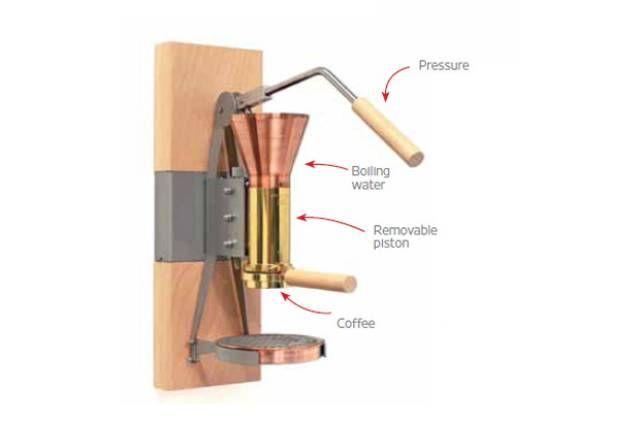 The Strietman ES3 espresso maker