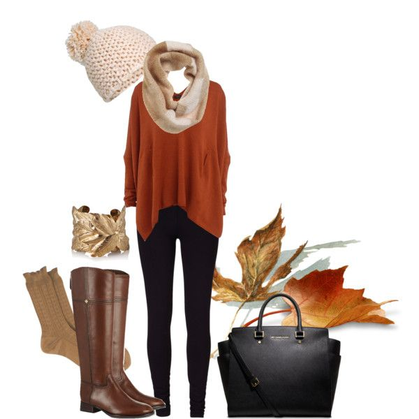 OUTFIT WITH FALL COLORS- love the riding boots