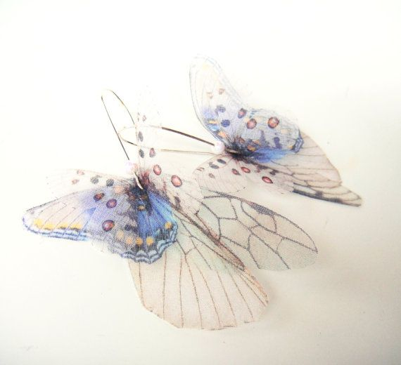 Butterflies all Over Organza Earrings $35 These are truly beautiful. Whispy and light!