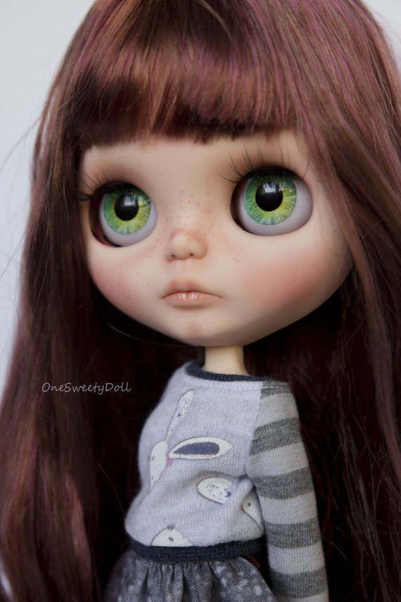 Reserved Bunny - RBL Blythe továrna na zakázku OOAK hnědé a červené vlasy