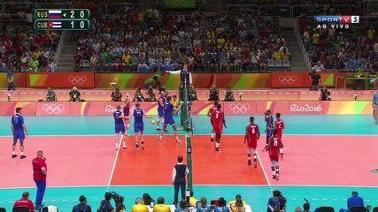 Voleibol Masculino Rio 2016 - Russia vs Cuba SPORTV 07.08.2016 02/02   lodynt.com  لودي نت فيديو شير