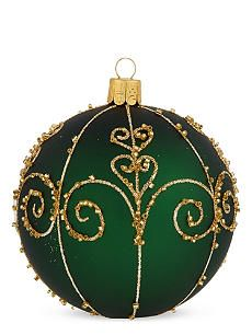ORNEX Traditional green swirl bauble