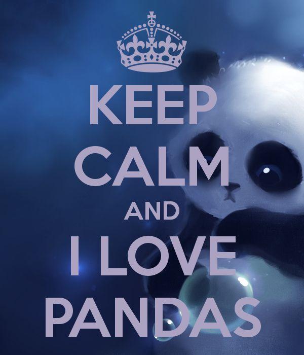 KEEP CALM AND I LOVE PANDAS