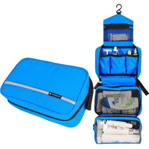 CYBERNOVA impermeabile Borsa da Toilette/Borsetta da Viaggio wash bag Cosmetic bag (blu)
