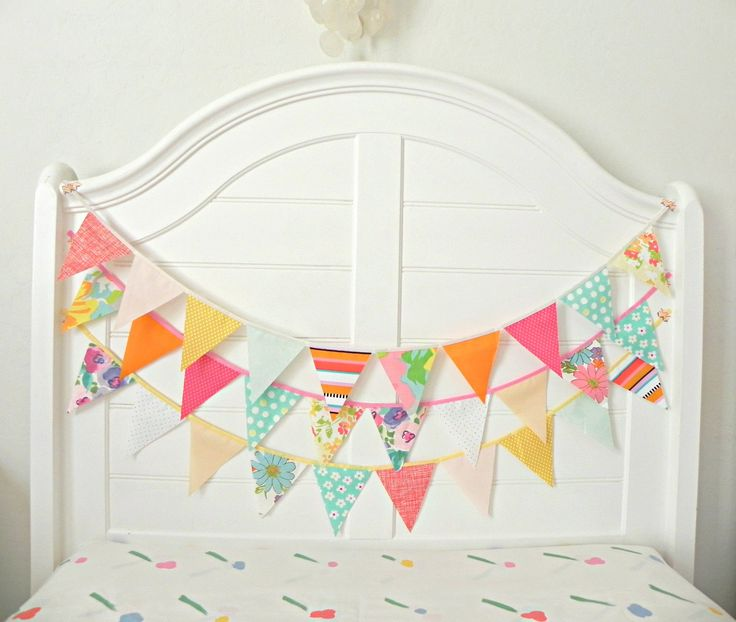 Gumball Circus Vintage Fabric Bunting, Garland, Banner, Pennant Decoration 9 Feet Handmade By A Fête Beckons On Etsy. $20.25, via Etsy.