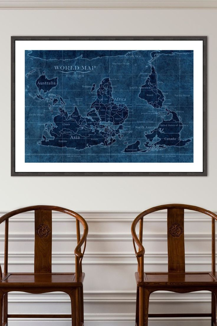 Political Map Of Central America And The Caribbean%0A Oliver Gal   UpsideDown Map of the World