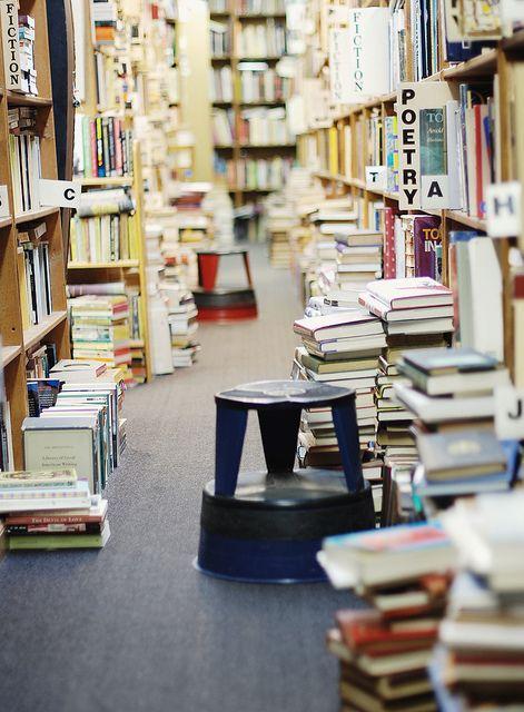 The Dawn Treader Bookshop in Ann Arbor, Michigan. An absolute labyrinth of bookshelves.