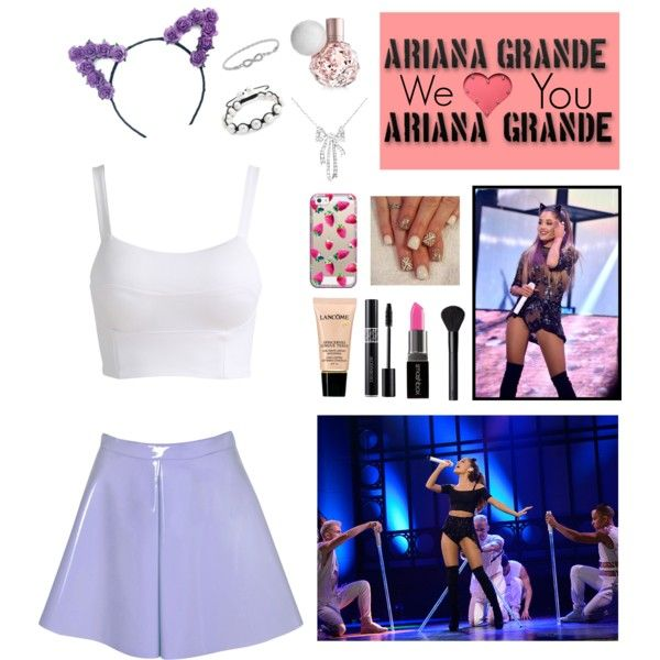 A fashion look from August 2015 by ayappa featuring Glamorous, Bling Jewelry, Casetify, NARS Cosmetics, Lancôme, Smashbox, concert et ArianaGrande