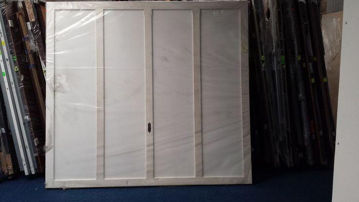 "7'11.25"" x 7'2.5"" Cardale STUART Timber Retractable White Primed Garage Doors"