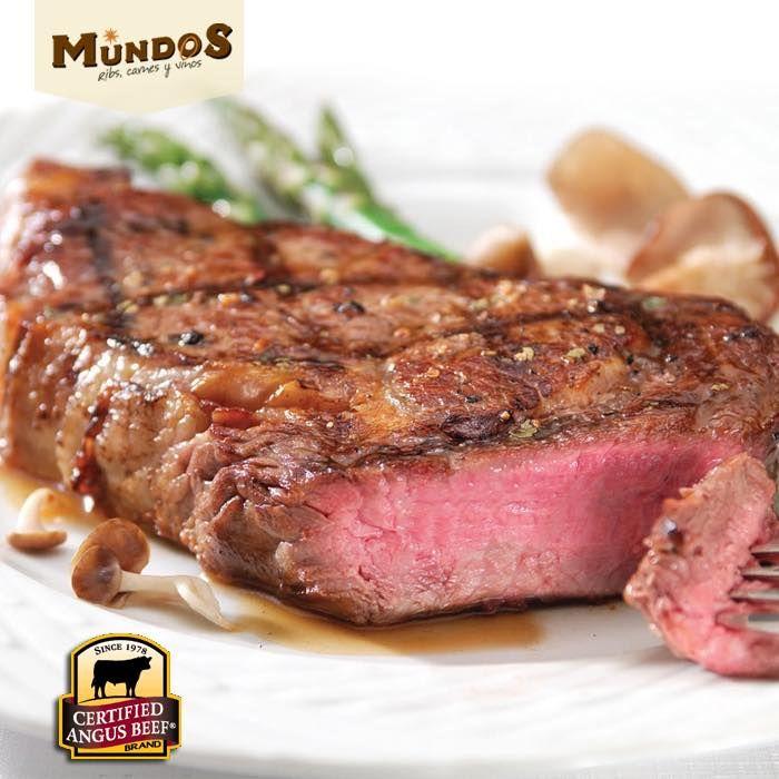 Reconocida en el mundo como la mejor carne que uno puede adquirir #CertifiedAngusBeef, la encuentras en #MundosRestaurante
