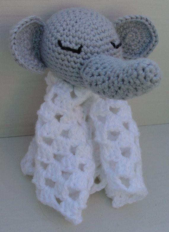 Amigurumi Elephant Blanket : Crochet Amigurumi Elephant Security Blanket Blankets ...