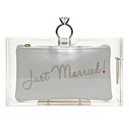 Brides: love this Just Married clutch from Charlotte Olympia