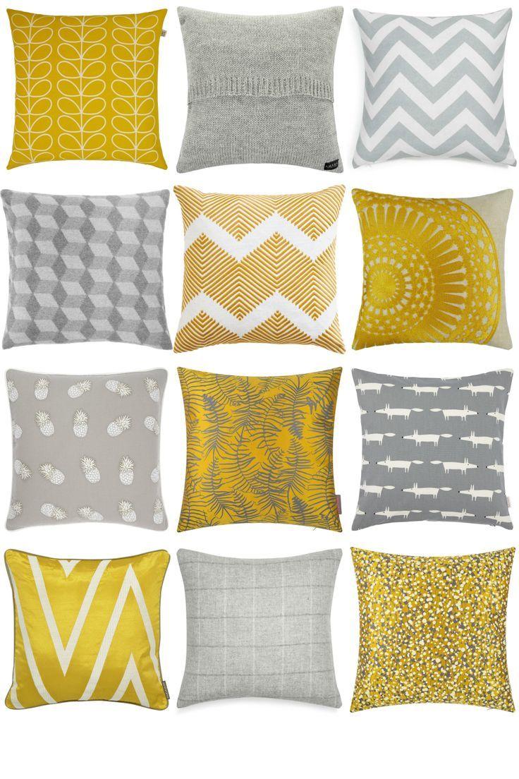 Gelbe Und Graue Kissen Furnishfuls Einrichtungsideen