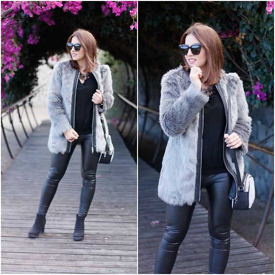Get this look: http://lb.nu/look/8628593  More looks by Carolina González Toledo: http://lb.nu/carolinatoledo  Items in this look:  Monglam Sunglasses, Miss Musass Coat, Bissú Bag, Amichi Sweater, Zara Leggins, Primark Boots   #chic #street