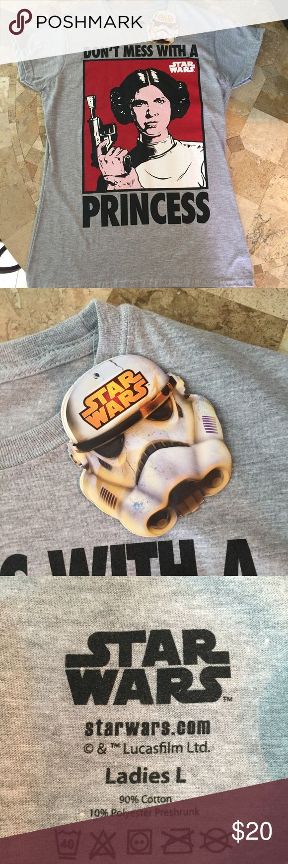 Star Wars Princess Leia T-shirt NWT t-shirt with a super cute quote! Princess Leia is a classic. This top would be cute for every day wear or you could even wear it to a costume/Halloween event or party if you don't want to dress up! Tops Tees - Short Sleeve