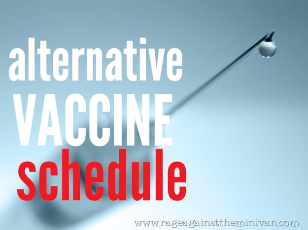 An alternative vaccination schedule (modified from Dr. Sears)