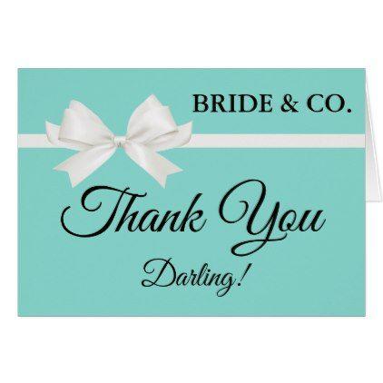 BRIDE & CO. Tiffany Bridal Shower Thank You Card - bridal shower gifts ideas wedding bride
